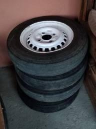 Jogo rodas Fusca aro 15 pneus originais