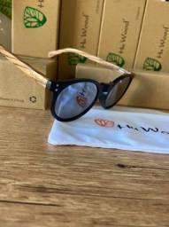 Óculos HuWood de Sol Feminino Polarizado Original com Proteção UV adeirado
