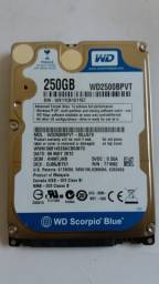 HD Interno/Externo 250 GB para Notebook Usado Barato