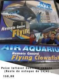 Peixe inflavel de controle remoto