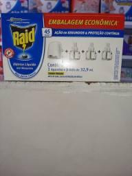 Inseticida raid elétricos 1 aparelho é 3 refil