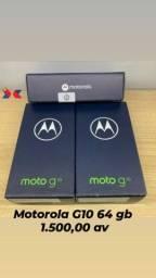 MOTO G10. 64 GB. CINZA E BRANCO