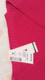 Camiseta de lã rosa
