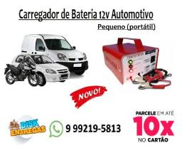Carregador de Bateria Automotivo Portátil (Pequeno) 12v Carga Rápida e Lenta Cod:005
