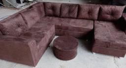 Sofás de chaise grande com entrega grátis