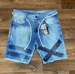 Bermuda destoyed jeans rasgada