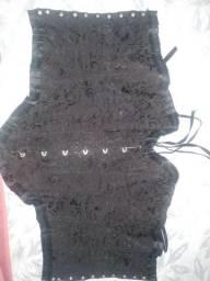 Corpete corselet over preto