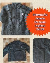 Jaqueta em couro legítimo masculina
