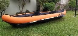 Caiaque Canoa Inflável Hydro Force Ventura Par Remos Bestway