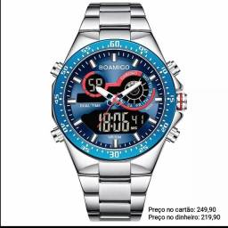 Relógio Masculino Original Boamigo 100% Funcional