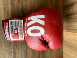 Luva De Boxe Knockout + Faixa Protetora De Punho + Brinde
