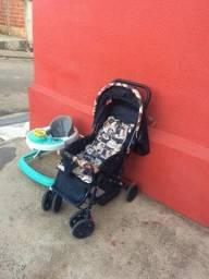Vendo carrinho de bebê e andaja