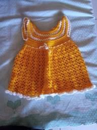 Vestido baby de crochê