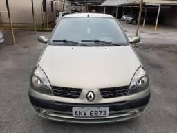 Clio sedan privilegie completo + bancos em couro - 2003