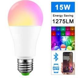 Lâmpada Inteligente Bluetooth - 16 milhões de cores. Controle pelo celular