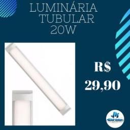 Luminária Tubular LED 20w Distribuidora Atacado e Varejo Jk Eletrônicos