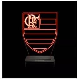Abajur Led Flamengo + Brinde