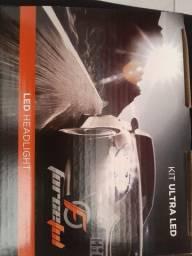Kit ultra led h3 novo garantia instalado