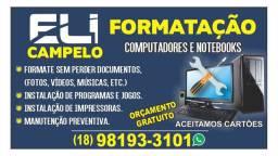 Formatação e manutenção computadores e Notebook