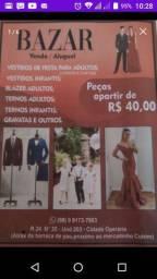 Bazar vestidos adulto e infantil, ternos, gravatas , peças apartir de 40 reais