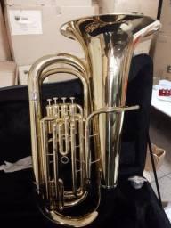 Tuba Jahnke nova 4pistos espetáculo de instrumento aceito troca menor valor