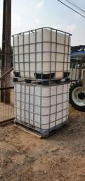 Tanque Reservatório Container 1000 Litros, com tampa e registro - Preço por Unidade