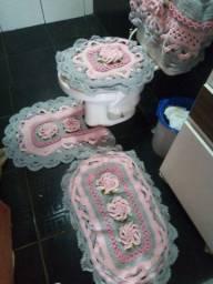 Jogos de banheiro em croche