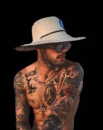 Chapéu de palha praia estampado