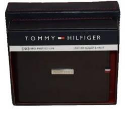 Carteira Tommy Hilfiger Masculina De Couro + Original + Nfe