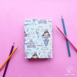 Caderno artesanal Princesa