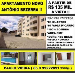 Vendo Apartamento Novo na Av. Sargento Hermínio, 03 Qts e Lazer : PW