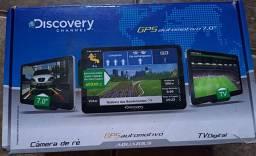 """AQUARIUS DISCOVERY CHANNEL GPS 7.0"""" com TV + Câmera de ré e acessórios"""