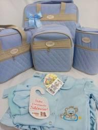 Kit bolsas maternidade 5 peças  com saída