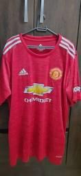 Três Camisas de times PSG Jordan, Manchester United e Real Madrid