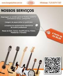 Luthier Conserto de Instrumentos Musicais