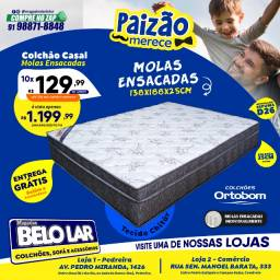 Título do anúncio: Colchão Ortobom de Molas Ensacadas Casal - Compre no Zap *