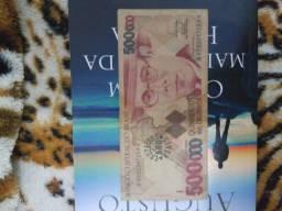 Cédula Antiga 500 mil Cruzeiros