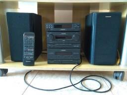Micro-system Panasonic c/ alto-falantes