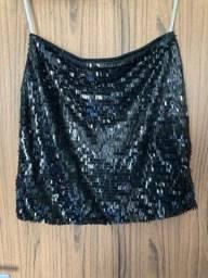 Mini saia de lantejoula
