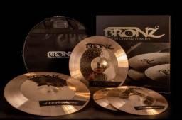 Pratos Liga B10 Bronz & Headphones AKG