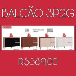 BALCÃO DE COZINHA C/2 GAVETAS PROMOÇÃO