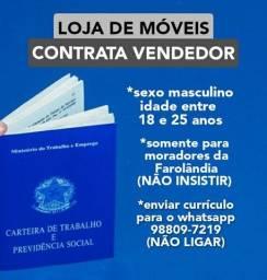 Título do anúncio: LOJA de MÓVEIS CONTRATA VENDEDOR!