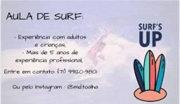 Aulas de surf para todas as idades.