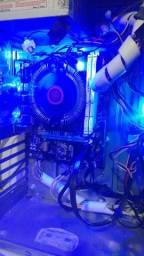 CPU Gamer i3 8Gb M.2 240GB e Led Azul Upgrade