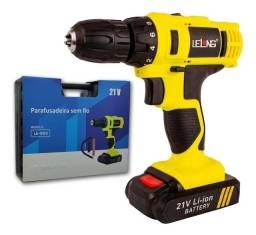 Parafusadeira/furadeira 2 Bateria 12v + Kit + Extensor Flex - Loja Natan Abreu