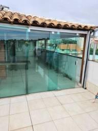 Porta de vidro completa