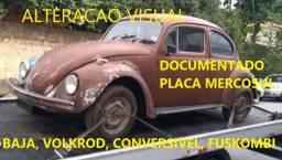 Fusca 1974 Modificado de Documento (Volksrod, conversível, Baja, Fuskombi )