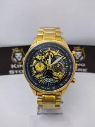 Relógio cronografo original ponteiros menores funcionais