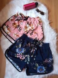 Kit 2 shorts de malha crepe