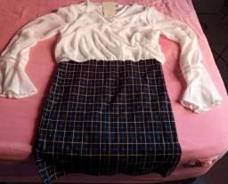 Vestido E M I L Y  & Jaqueta jeans feminino